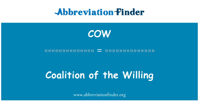 COW: Coalition of the Willing