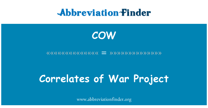 COW: Correlates of War Project