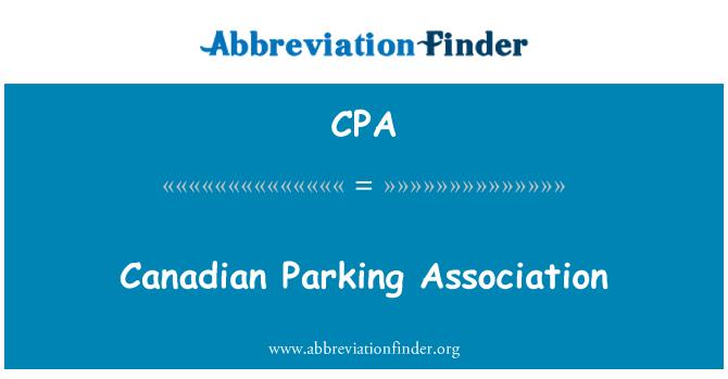 CPA: Canadian Parking Association
