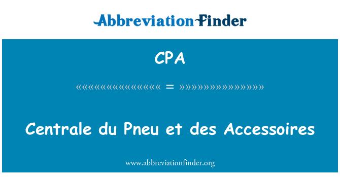 CPA: Centrale du Pneu et des Accessoires