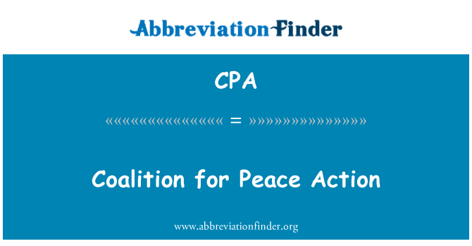 CPA: Coalition for Peace Action