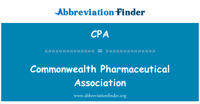 CPA: Commonwealth Pharmaceutical Association