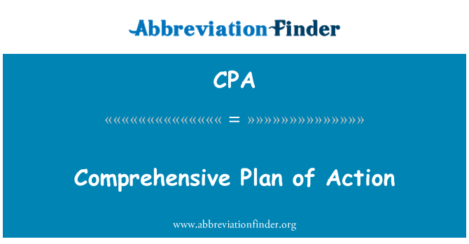 CPA: Comprehensive Plan of Action