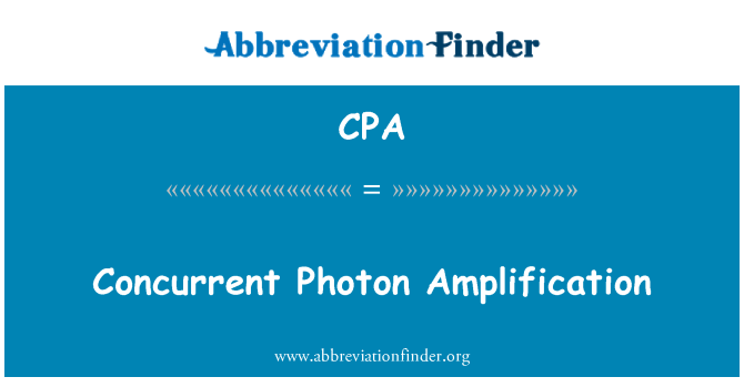 CPA: Concurrent Photon Amplification