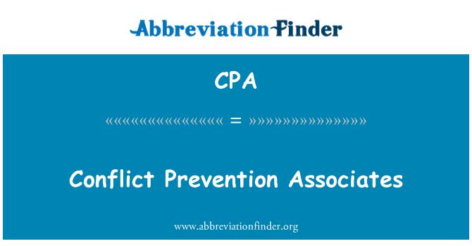 CPA: Conflict Prevention Associates