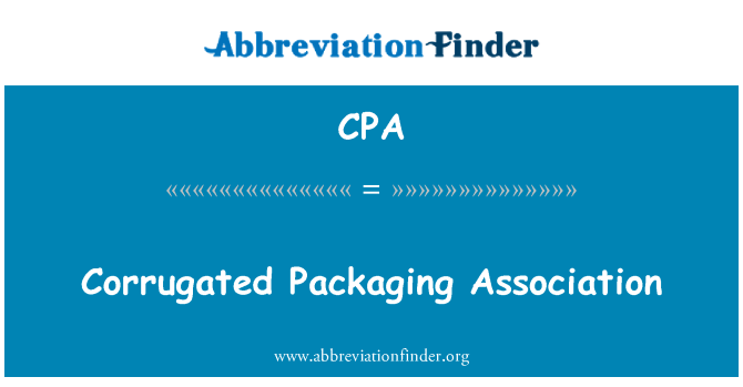 CPA: Corrugated Packaging Association