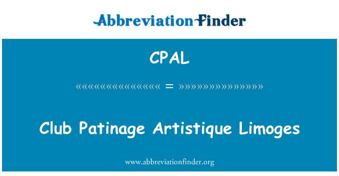 CPAL: Club Patinage Artistique Limoges