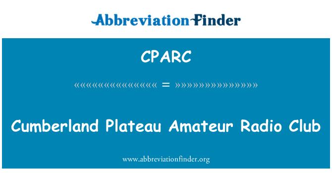 CPARC: Cumberland Plateau Amateur Radio Club