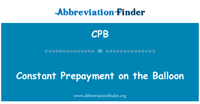 CPB: Constant Prepayment on the Balloon