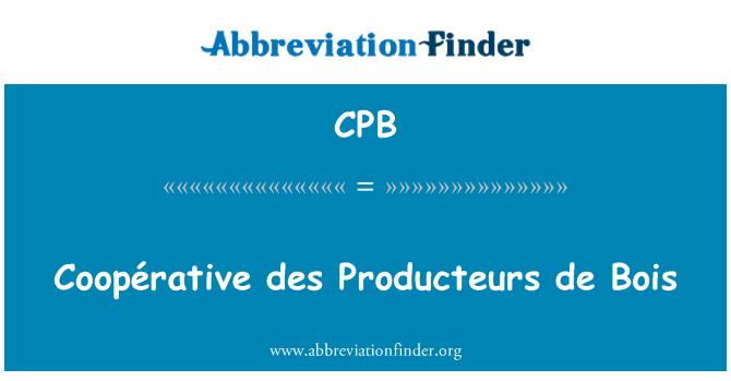 CPB: Coopérative des Producteurs de Bois