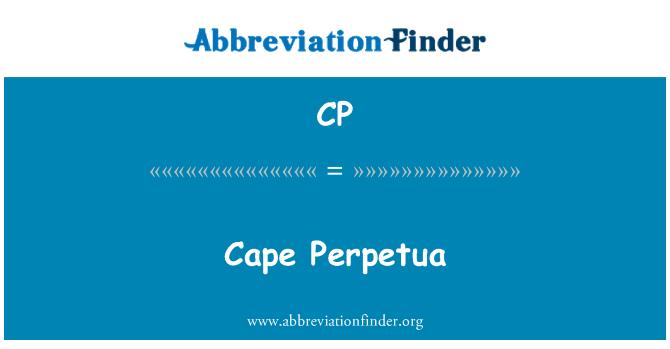CP: Cape Perpetua