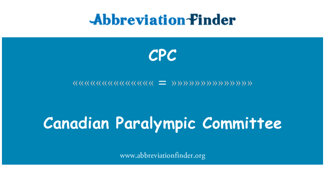 CPC: Canadian Paralympic Committee