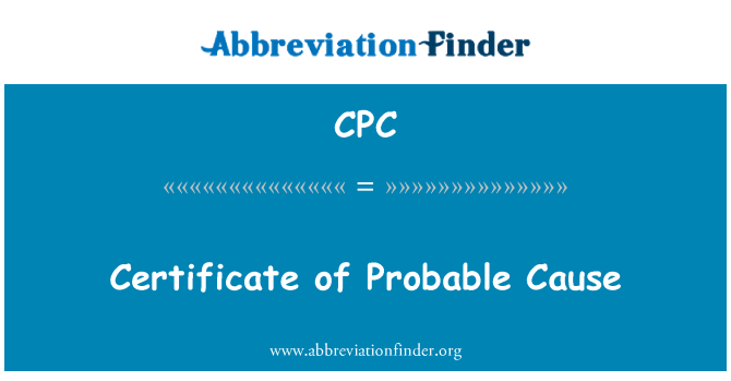 CPC: Certificate of Probable Cause
