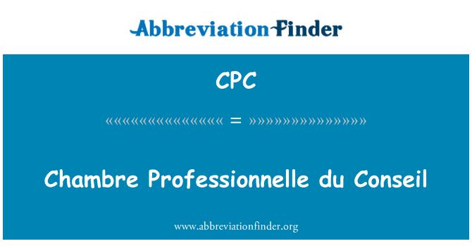 CPC: Chambre Professionnelle du Conseil