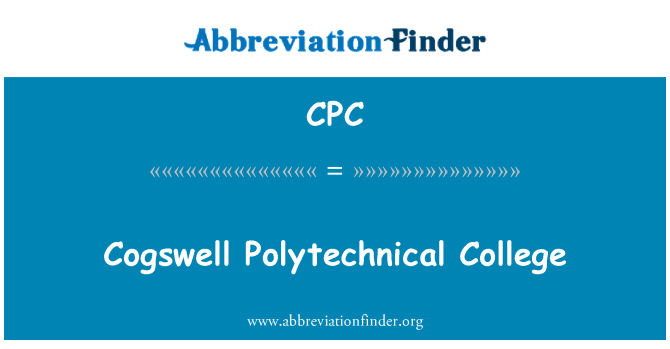 CPC: Cogswell Polytechnical College