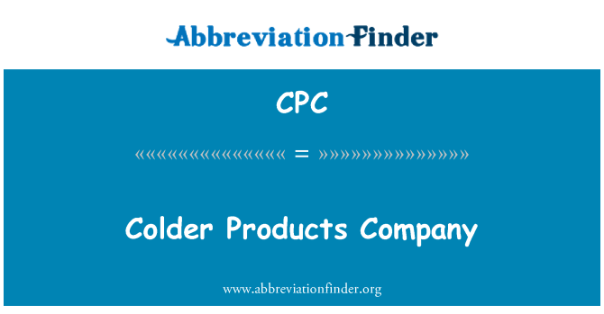 CPC: Colder Products Company