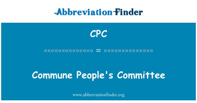 CPC: Commune People's Committee
