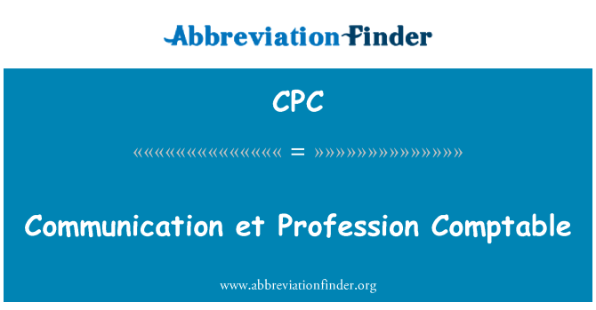 CPC: Communication et Profession Comptable