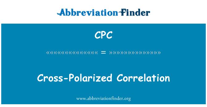 CPC: Cross-Polarized Correlation
