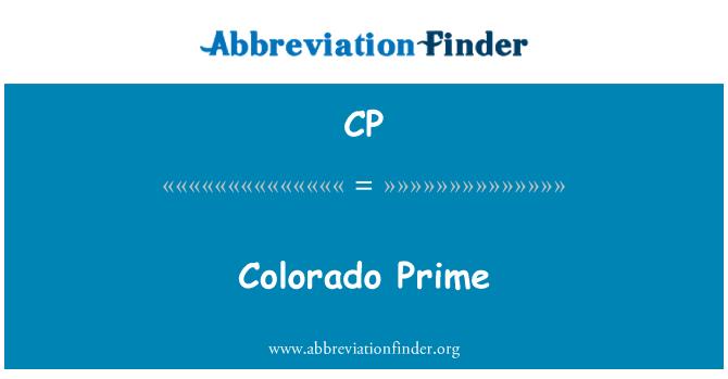 CP: Colorado Prime