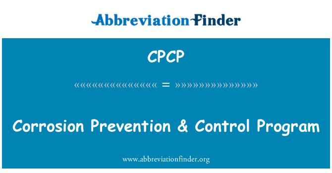 CPCP: Corrosion Prevention & Control Program