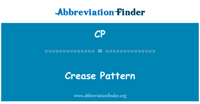 CP: Crease Pattern