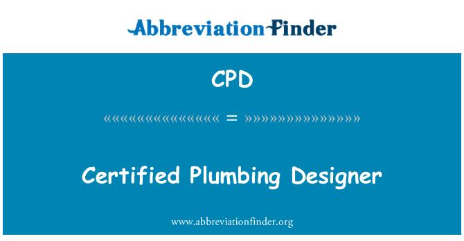 CPD: Certified Plumbing Designer