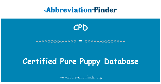 CPD: Certified Pure Puppy Database