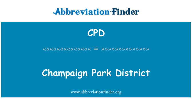 CPD: Champaign Park District