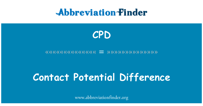 CPD: Contact Potential Difference