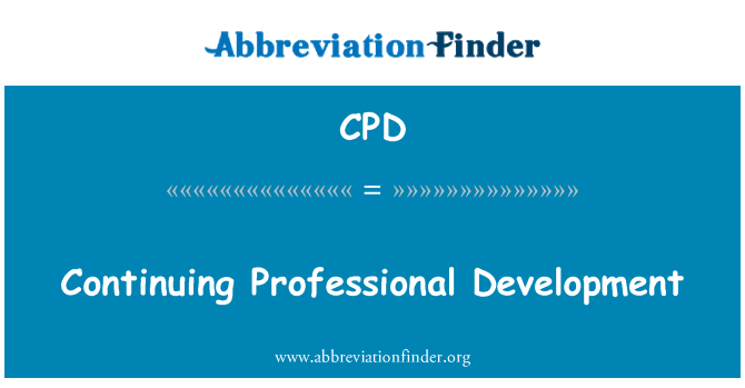 CPD: Continuing Professional Development