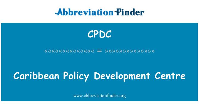 CPDC: Centar za razvoj Kariba politike