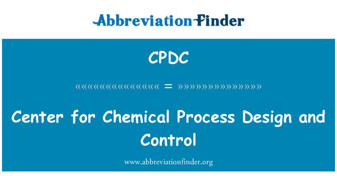 CPDC: Centar za upravljanje i kemijski proces dizajna