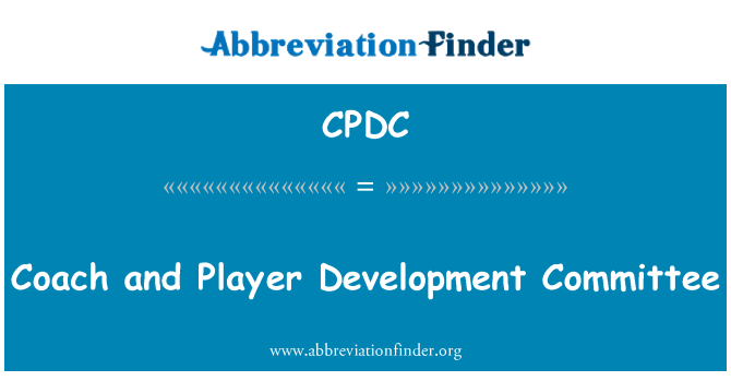 CPDC: Coach and Player Development Committee