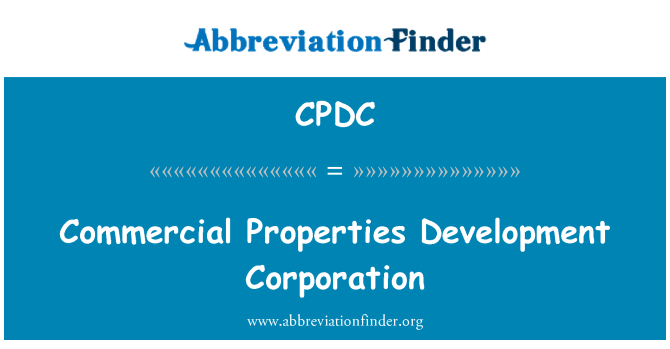 CPDC: Komercijalne nekretnine razvoj korporacije
