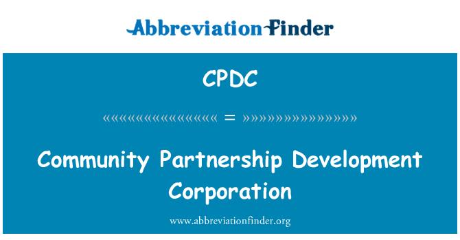 CPDC: Zajednice partnerstvo kompanija