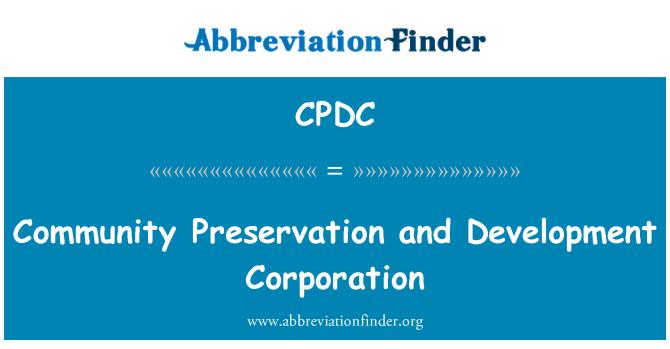 CPDC: Zajednice očuvanje i razvoj korporacije
