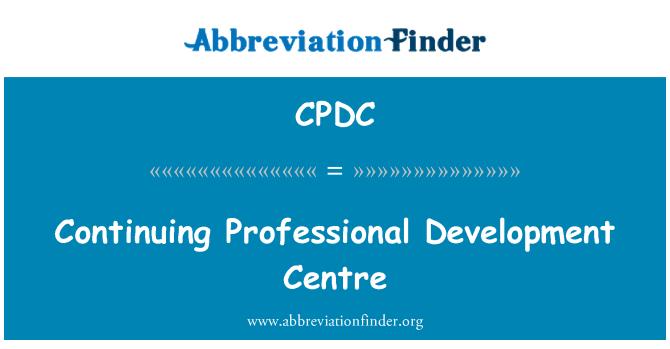 CPDC: Pokračující profesionální vývojové centrum