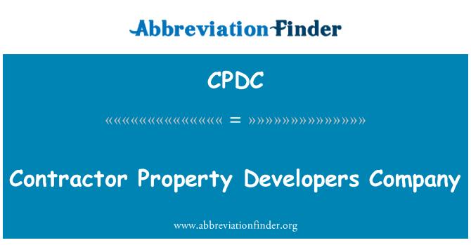 CPDC: Dodavatel vlastnost vývojáři společnosti
