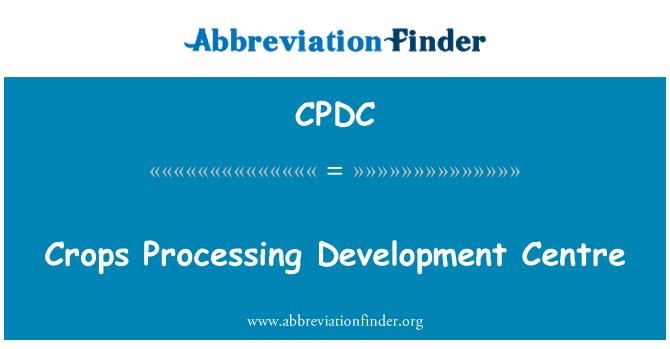 CPDC: Plodin, zpracování vývojové centrum