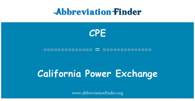 CPE: California Power Exchange
