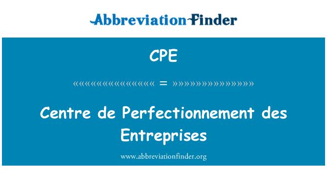 CPE: Centre de Perfectionnement des Entreprises