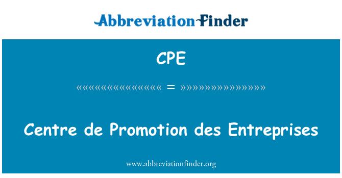 CPE: Centre de Promotion des Entreprises