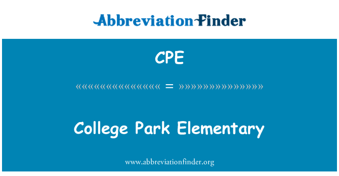 CPE: College Park Elementary