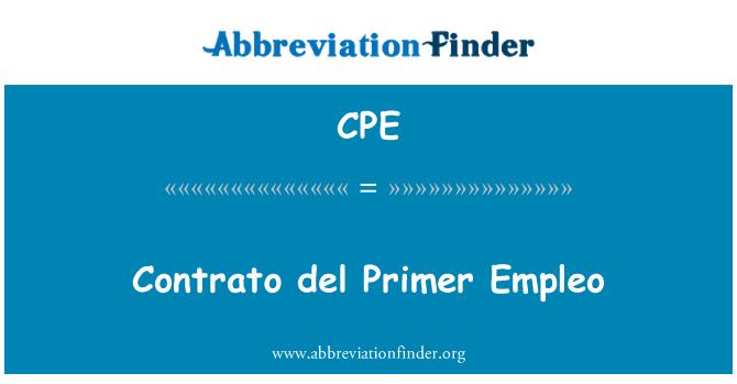CPE: Contrato del Primer Empleo