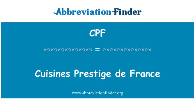 CPF: Cuisines Prestige de France
