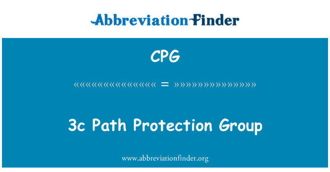 CPG: 3c Path Protection Group