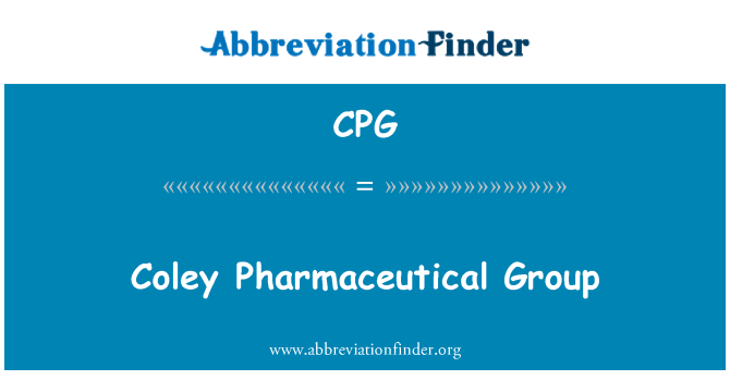 CPG: Coley Pharmaceutical Group