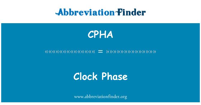 CPHA: Clock Phase