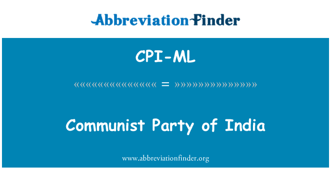 CPI-ML: Communist Party of India